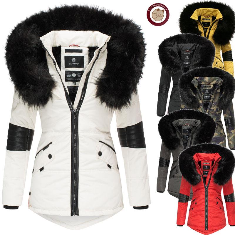 Marikoo Damen Jacke Leichte Jacke gefütterte Trendjacke